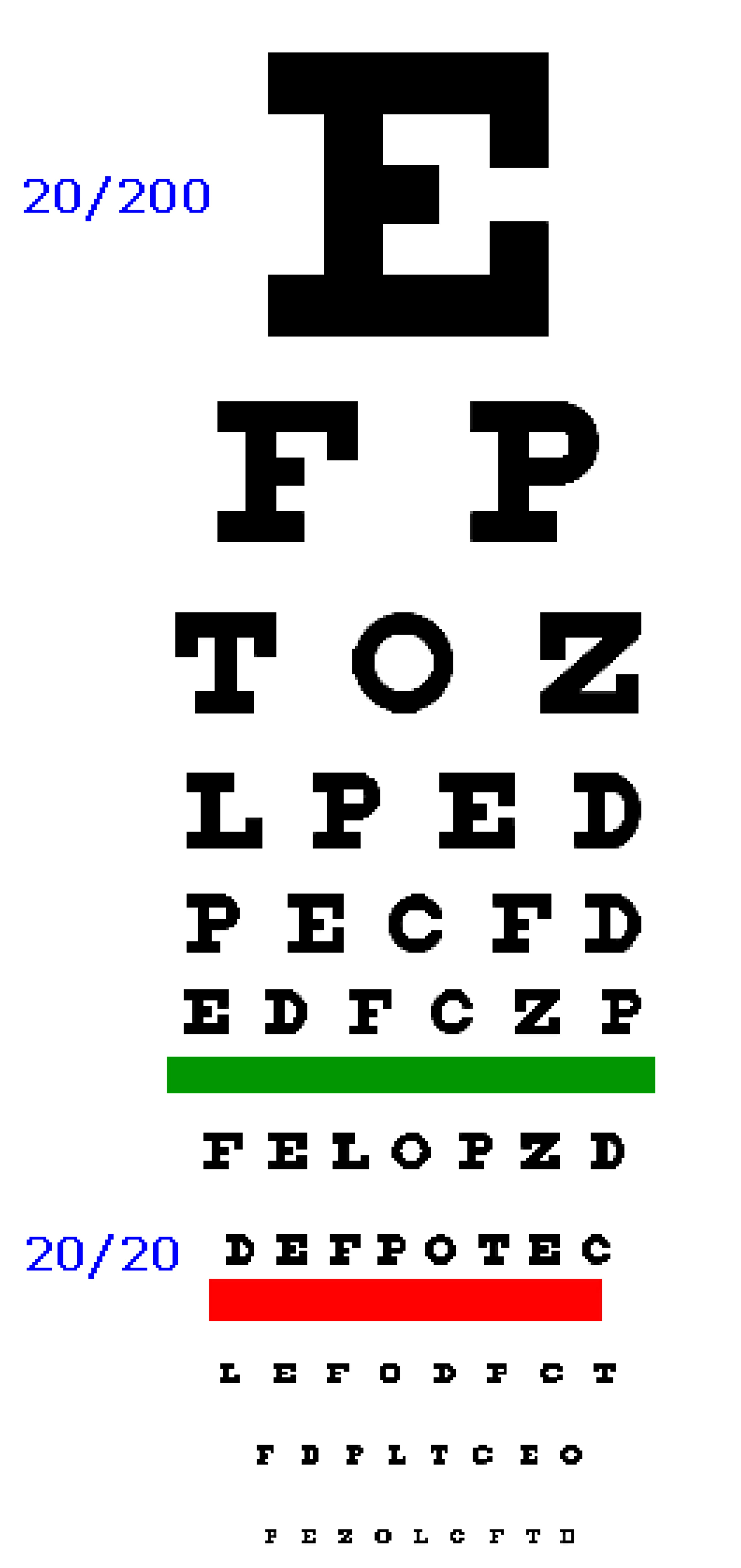 This is an image of Trust Printable Eye Test Charts