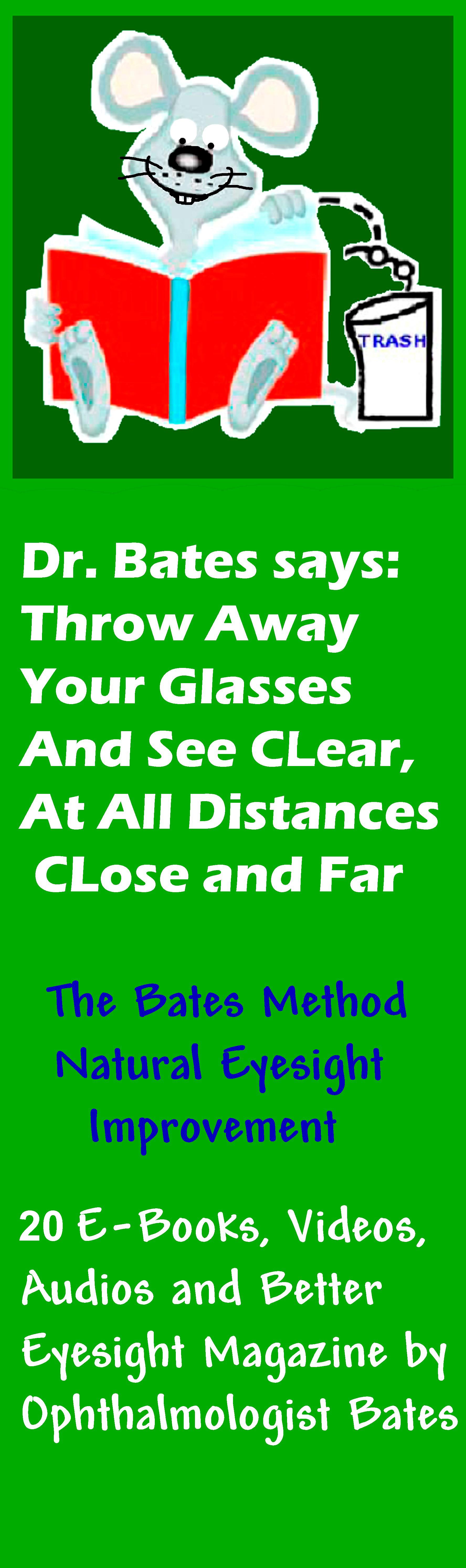 See Clear Without Eyeglasses. Stop Addiction to Stronger and Stronger Prescriptions!